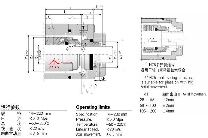 国际精密-H7N/H75机械密封