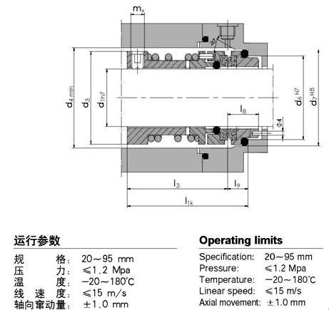 国际精密-124机械密封