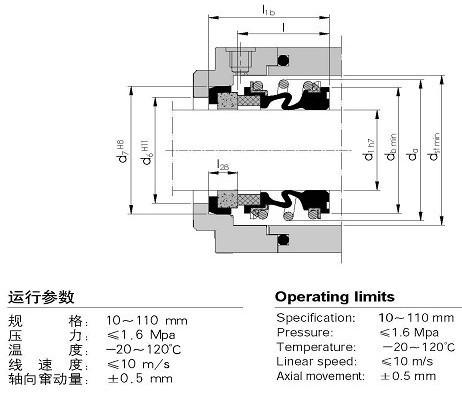 国际精密-MG1(109)机械密封