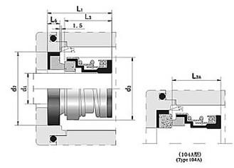 国际精密-104机械密封