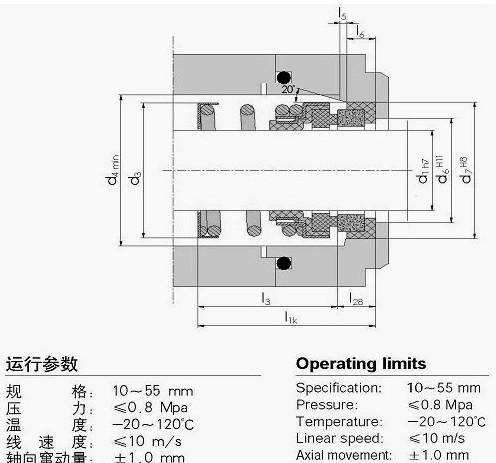 国际精密-108机械密封